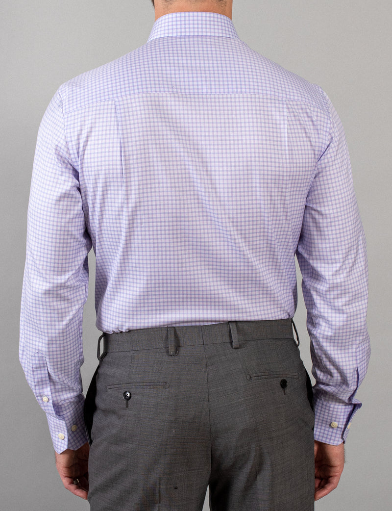 Lilac Check Business Shirt (Contemporary Fit)