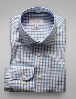 Blue Check Business Shirt (Contemporary Fit)