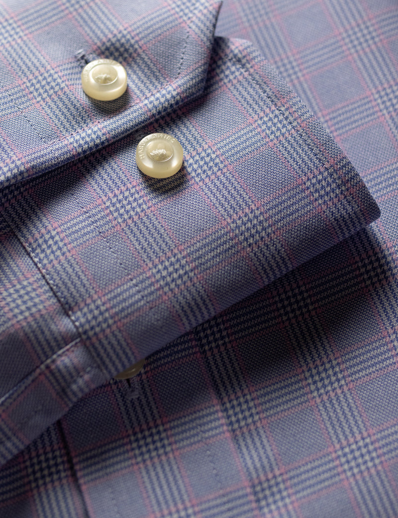 Pink Check Business Shirt (Contemporary Fit)