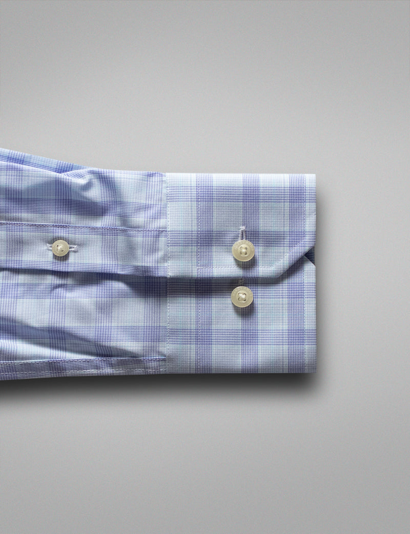 Classic Mint Check Business Shirt (Slim Fit)