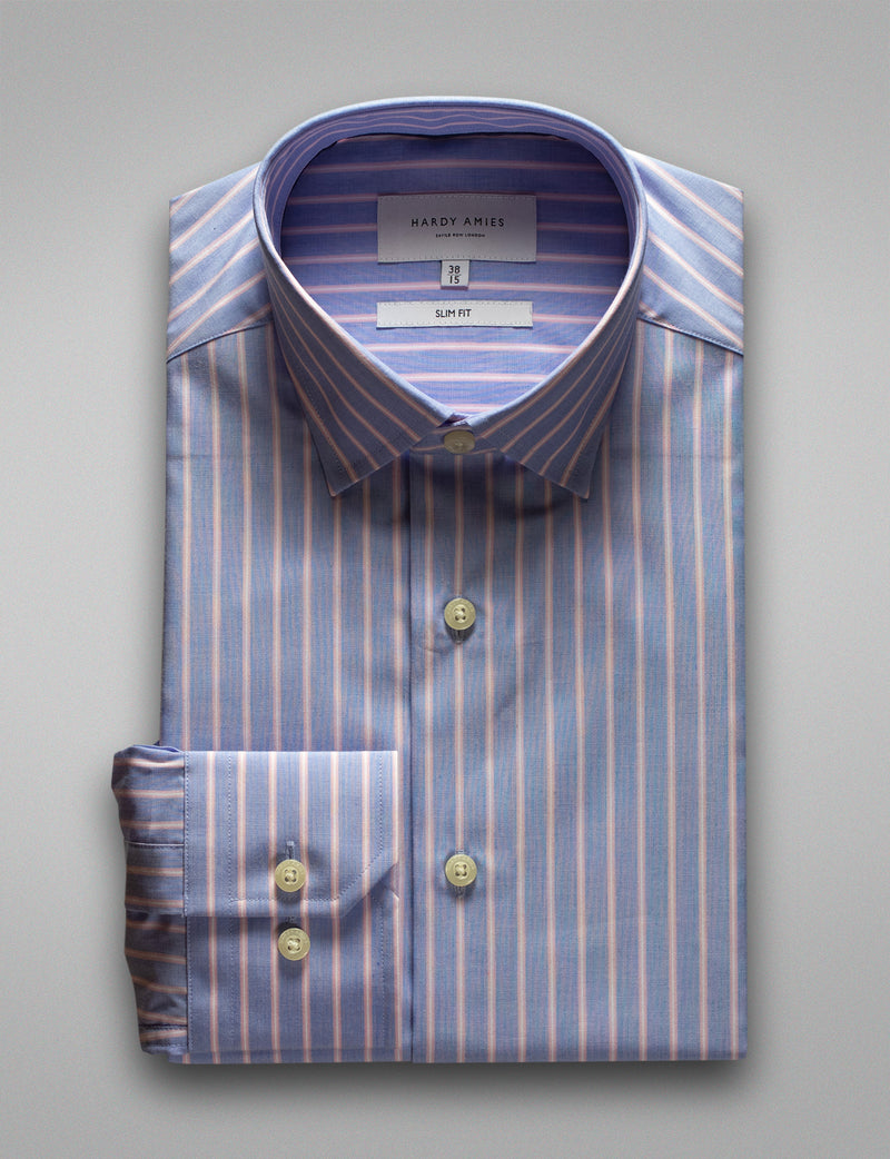 Pink Stripe Business Shirt (Slim Fit)