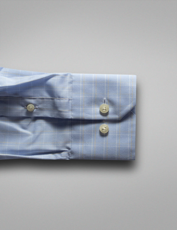 Light Check Business Shirt (Slim Fit)