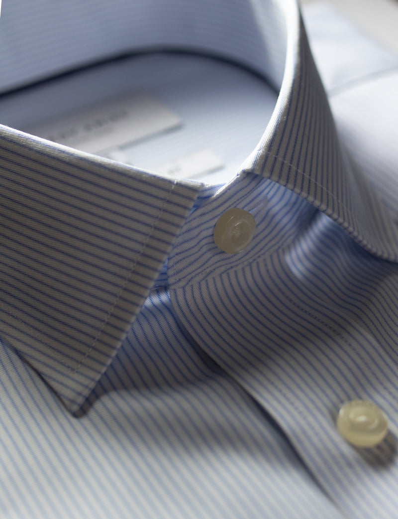 Light Blue Stripe Business Shirt (Contemporary Fit)