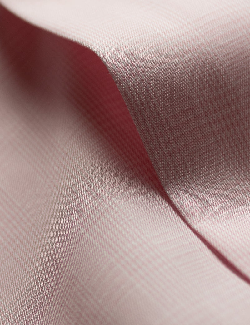 Small Pink Check Business Shirt (Slim Fit)