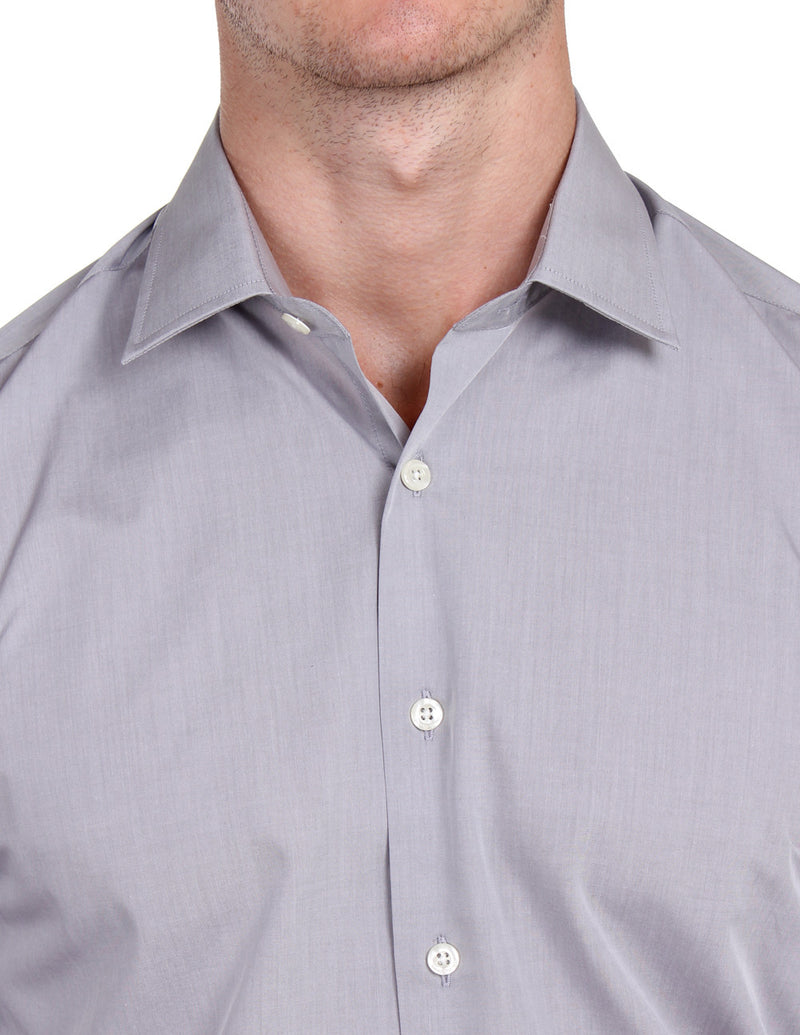 Grey Malange Business Shirt (Slim Fit)