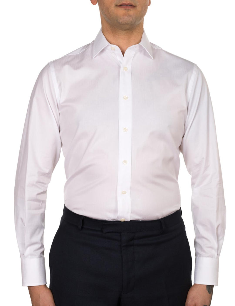 Textured Stripe Business Shirt