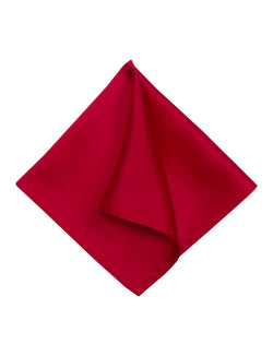 Burgundy Plain Silk Pocket Square