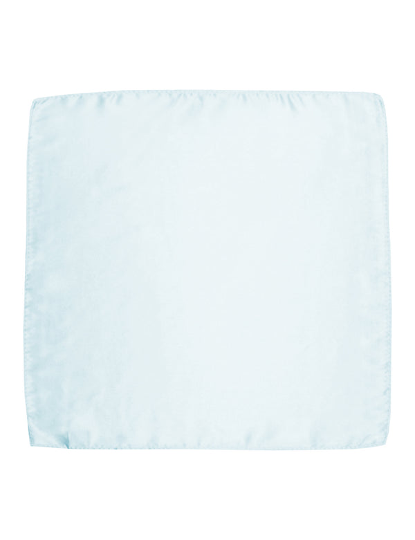 Pale Blue Plain Silk Pocket Square