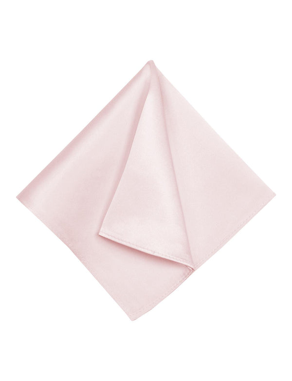 Blush Pink Plain Silk Pocket Square