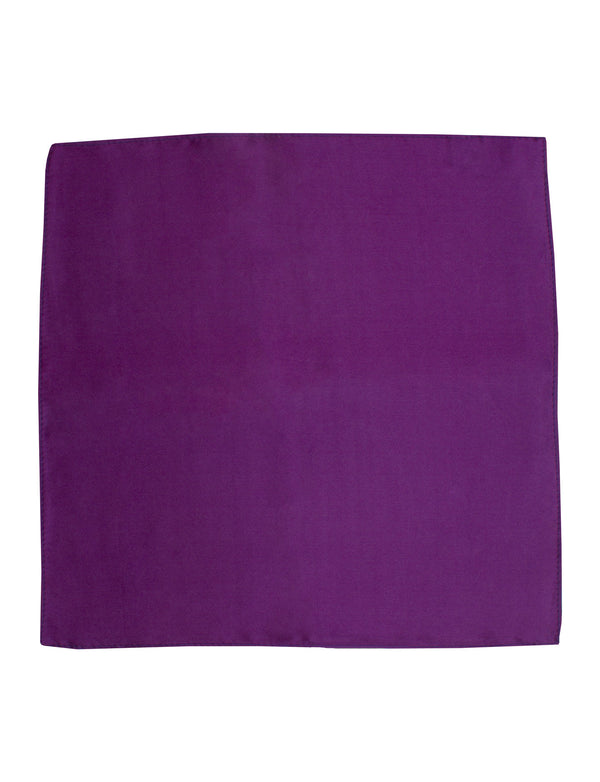 Plum Plain Silk Pocket Square