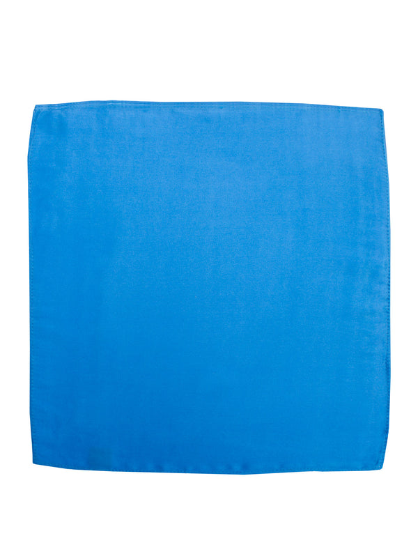 Royal Blue Plain Silk Pocket Square