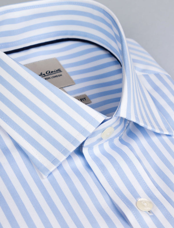 Pale Blue Stripe Business Shirt (Contemporary Fit)