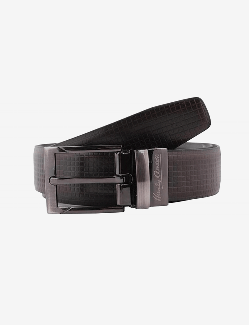 Brown Textured Belt (Reversible)