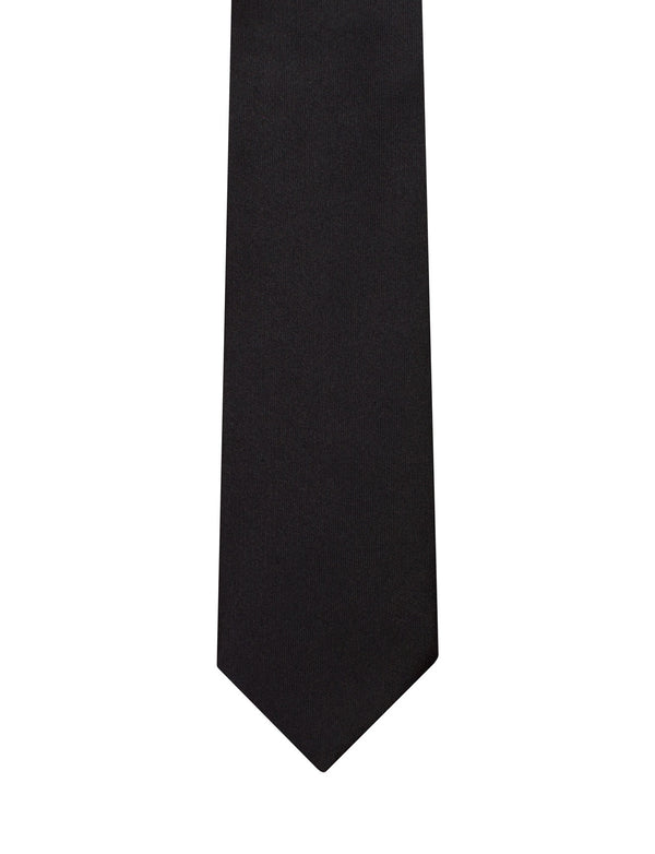 Black Satin Italian Silk Tie