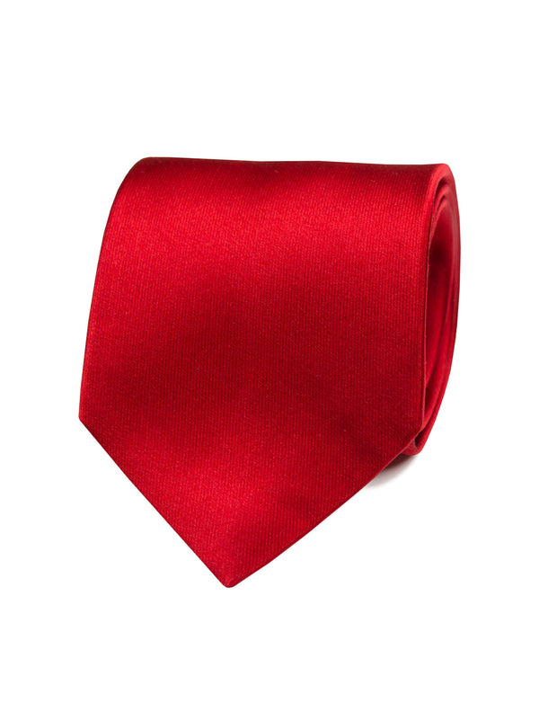 Red Satin Italian Silk Tie