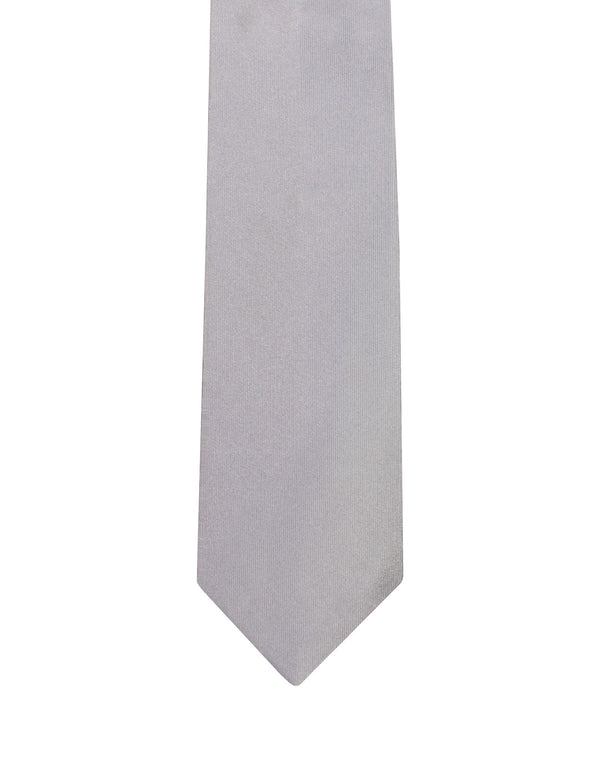 Grey Satin Italian Silk Tie