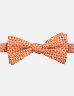 Orange Geometric Silk Bow Tie