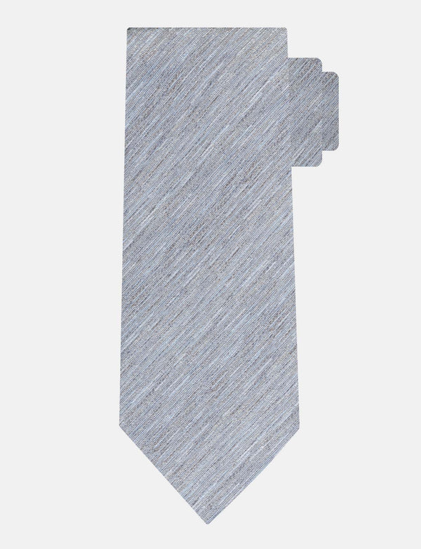 Grey Textured Silk Tie