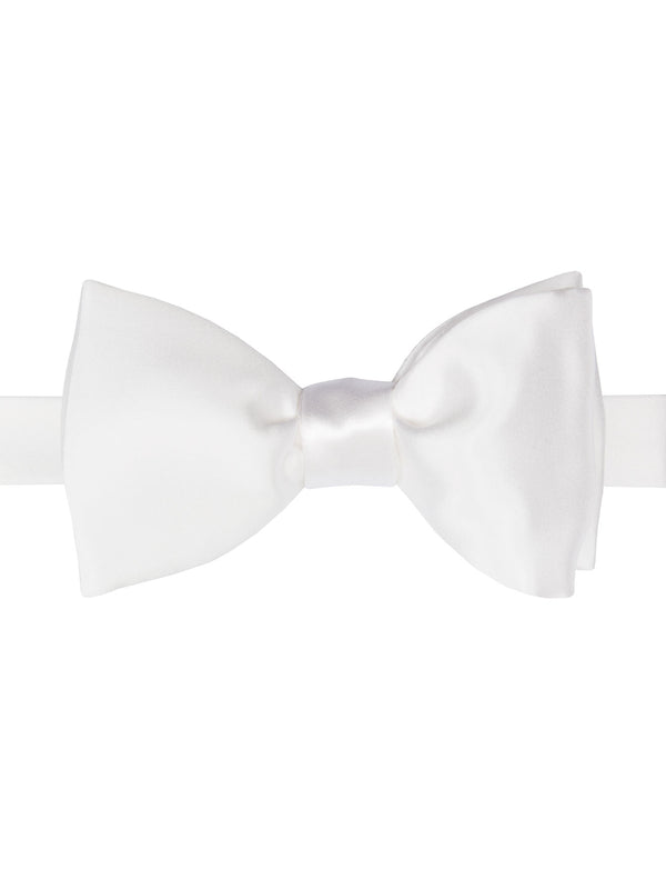 White Italian Tie Your Own Bow Tie