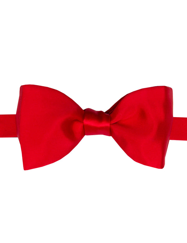 Red Italian Tie Your Own Bow Tie