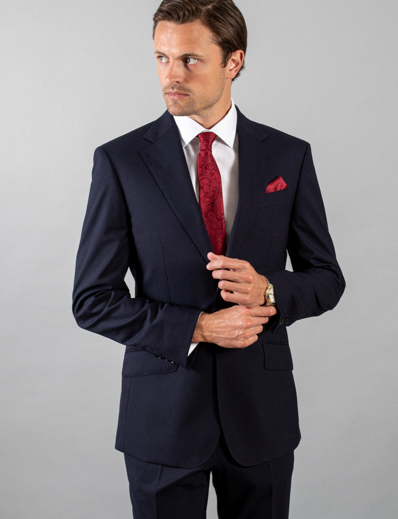 Navy Classic Suit Jacket