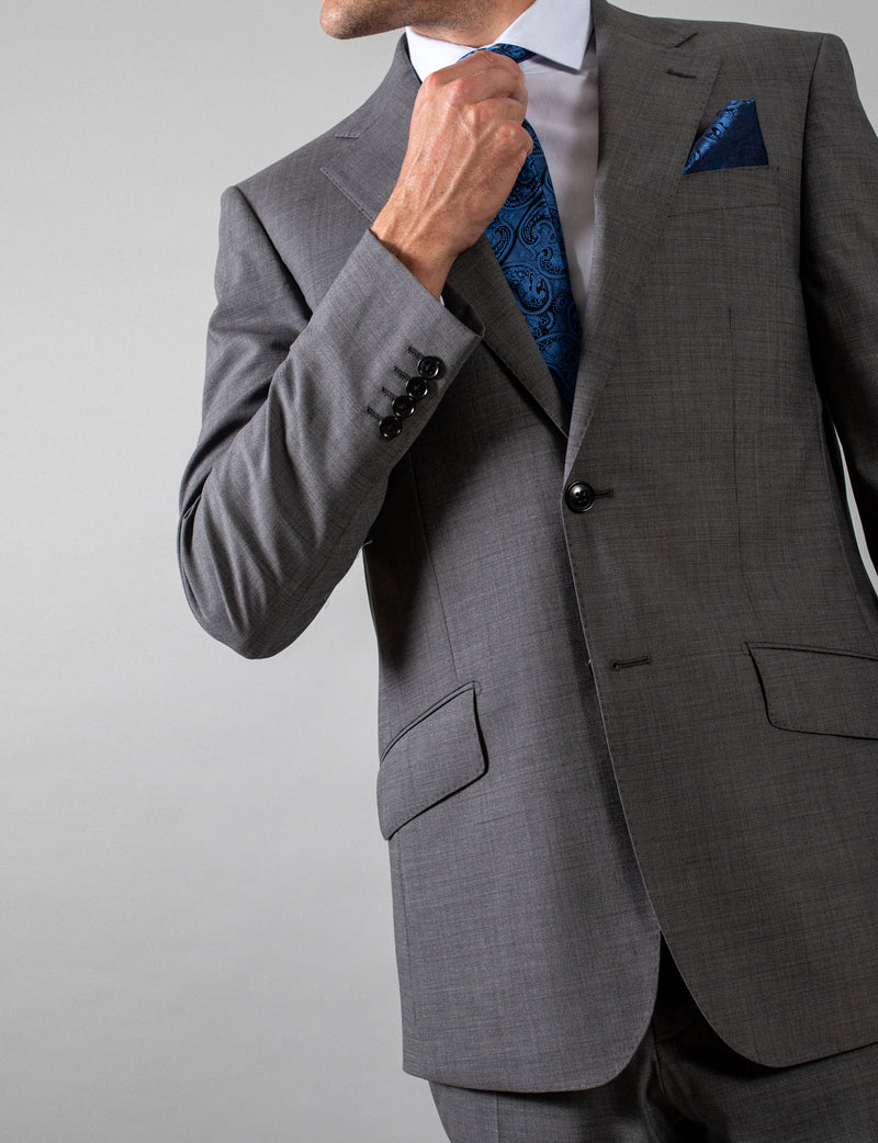Grey Nailhead Suit Jacket