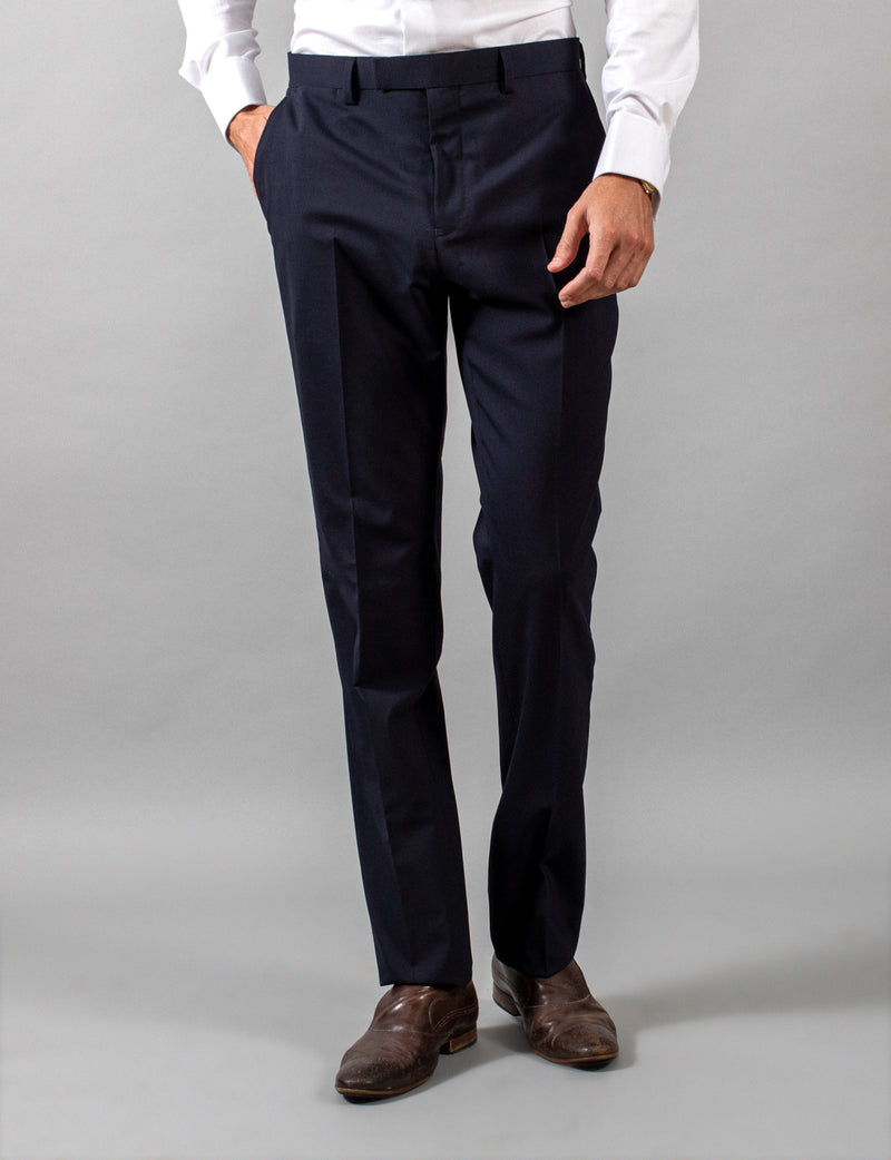 Navy Classic Suit Trousers