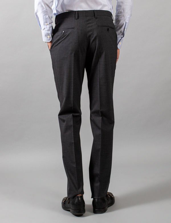 Charcoal Classic Suit Trousers