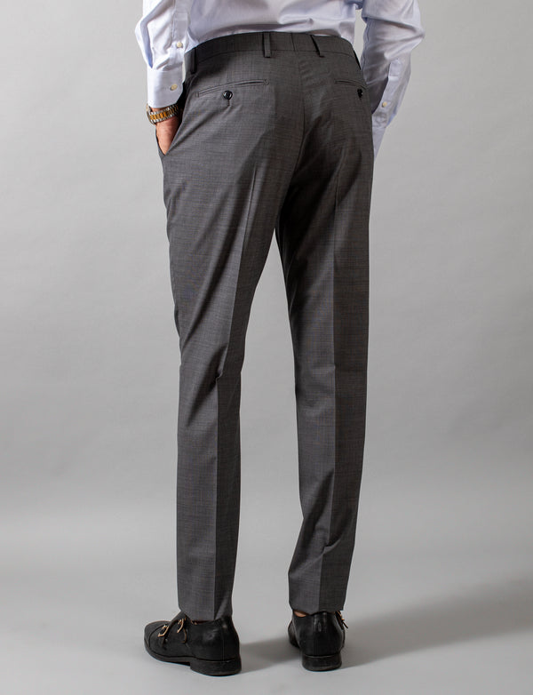 Grey Nailhead Suit Trousers