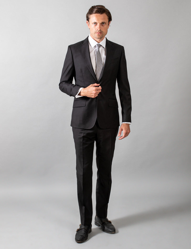 Black Classic Suit Trousers