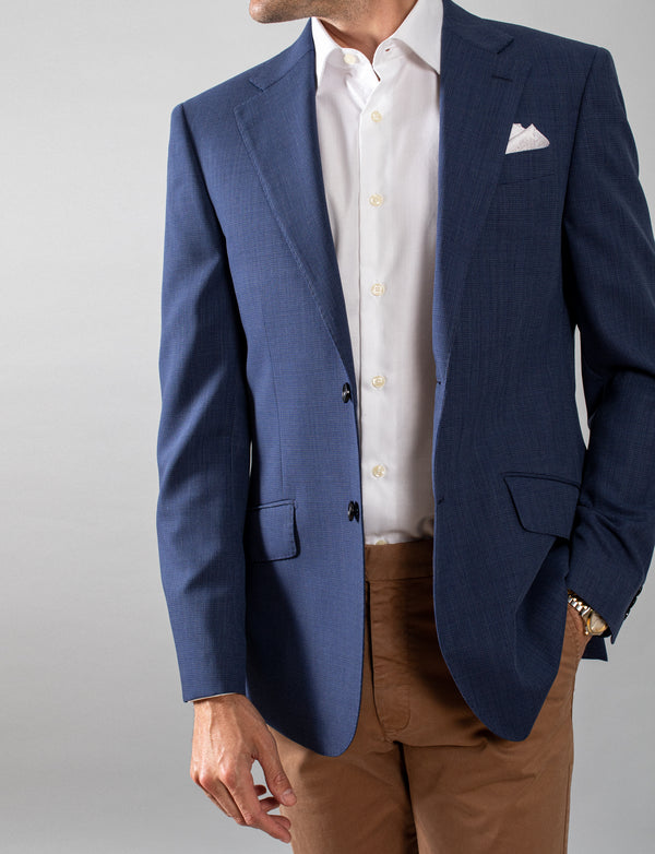 Blue Twill Sports Coat