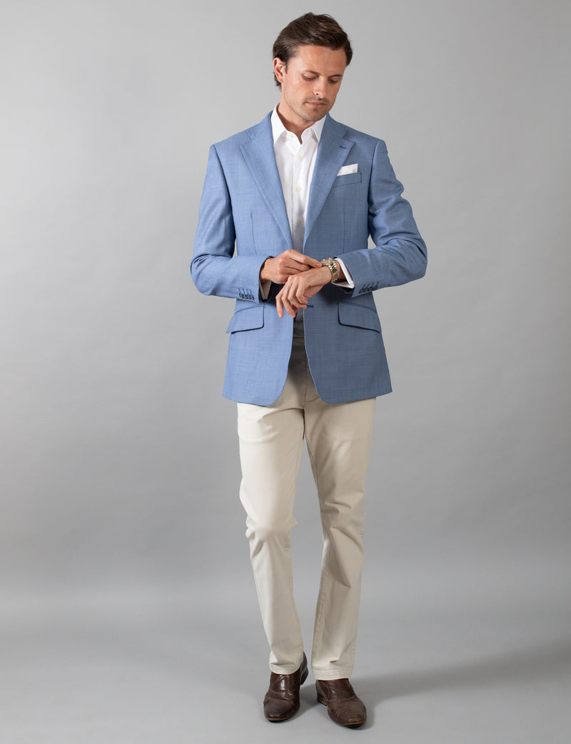 Blue Birdseye Sports Coat