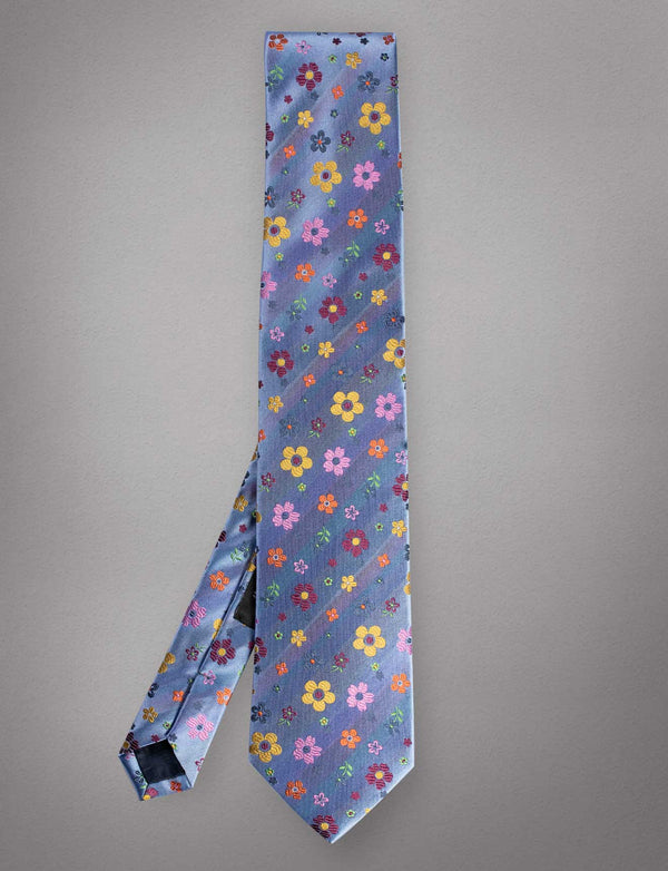 Colourful Floral Silk Tie