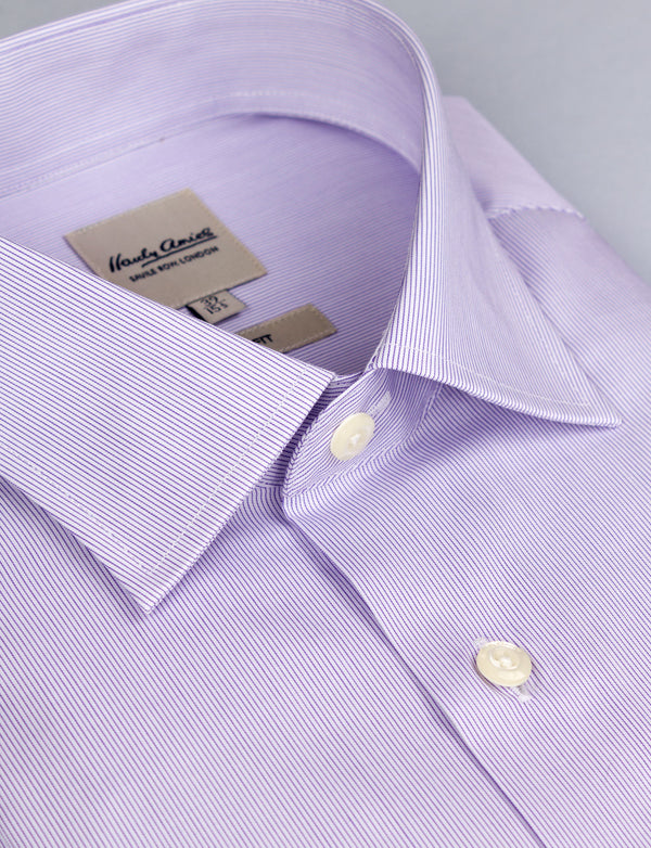 Lilac Micro Stripe Business Shirt (Slim Fit)