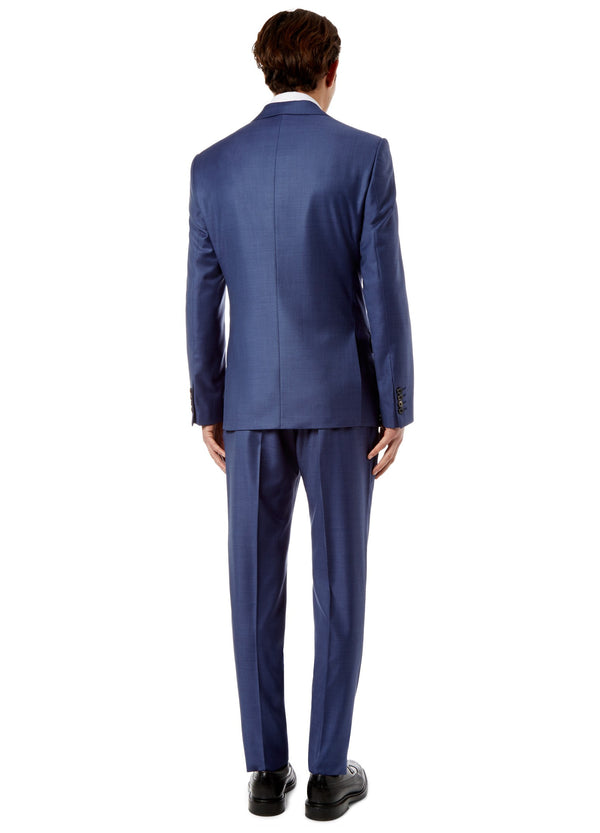 Navy Sharkskin Suit