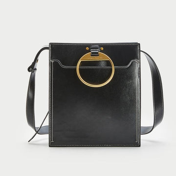 WOMEN'S LEATHER-LOOK DIAGONAL SATCHEL BAG - Urban Revivo Fashion