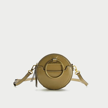 WOMEN'S ROUND DIAGONAL CIRCLE FRONT MINI SHOULDER BAG - Urban Revivo Fashion