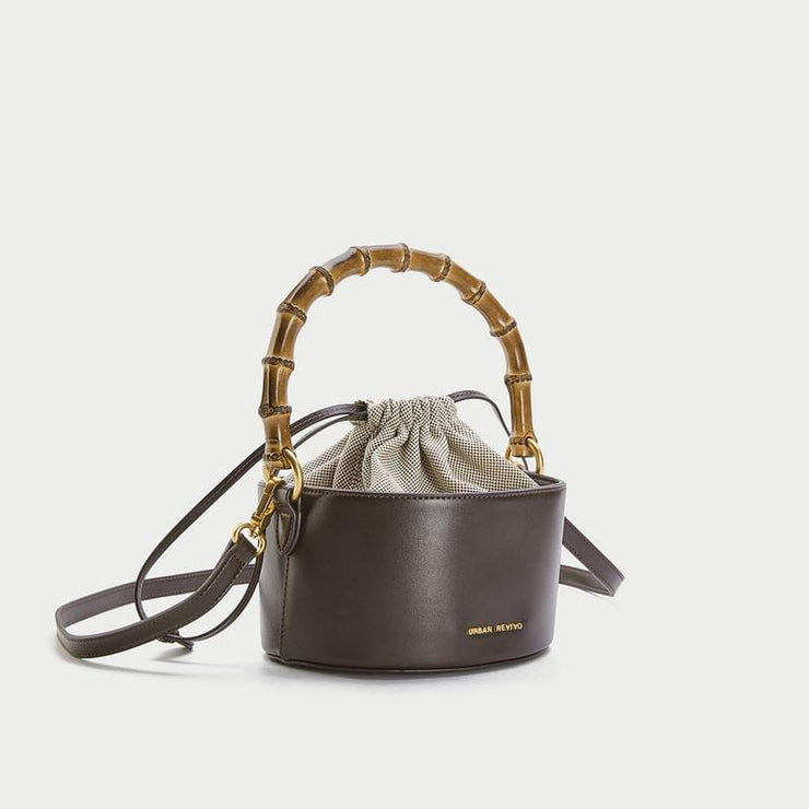 Women's Acc Fashionable Drawstring Bucket Bag - Urban Revivo Fashion