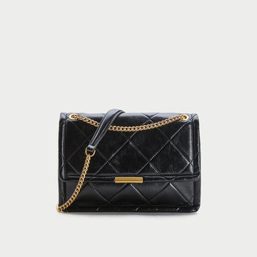 WOMEN'S QUILTED CHAIN CROSS BODY BAG - Urban Revivo Fashion