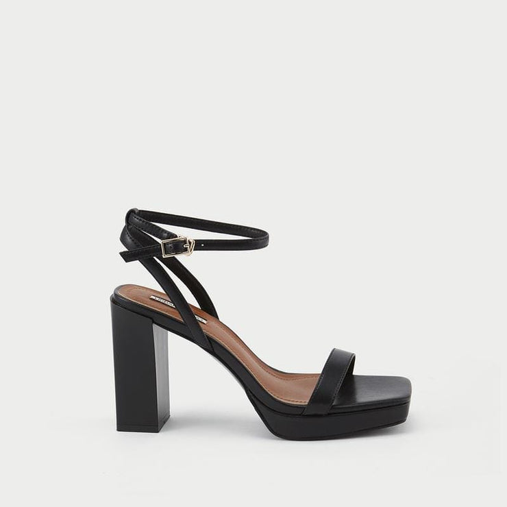 Women's Square Toe High Heel Sandals - Urban Revivo Fashion