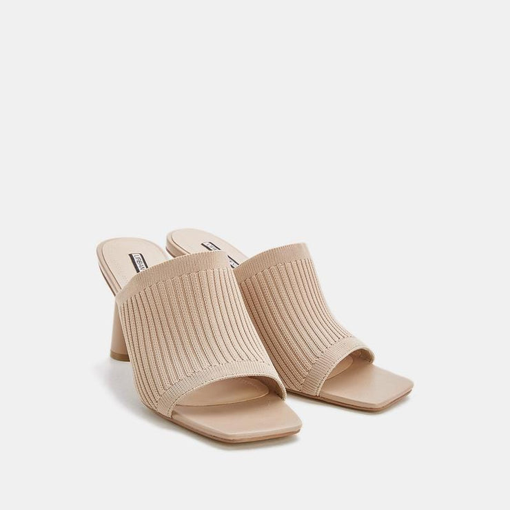 Women's Fashion Square Toe Slippers - Urban Revivo Fashion