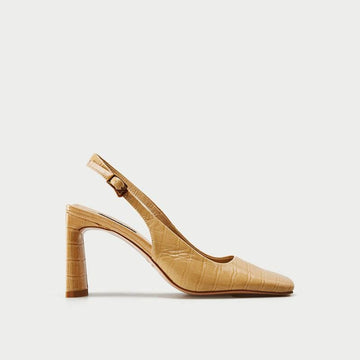 BLOCK HEEL SLINGBACK PUMPS SHOES - Urban Revivo Fashion