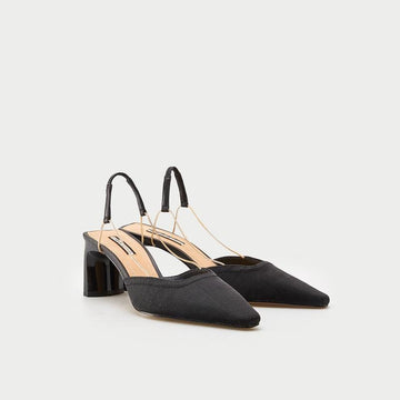 PLAIN STILETTO SLINGBACK PUMPS SHOES - Urban Revivo Fashion