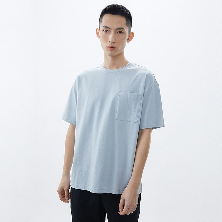 Casual Simple Round Collar T-shirt - Urban Revivo Fashion