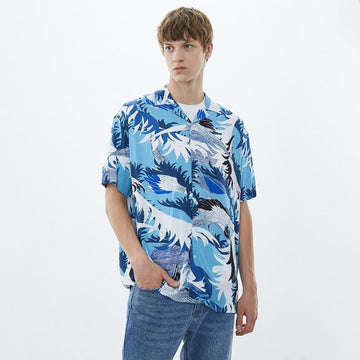 MEN'S PRINT LAPEL SHIRT - Urban Revivo Fashion