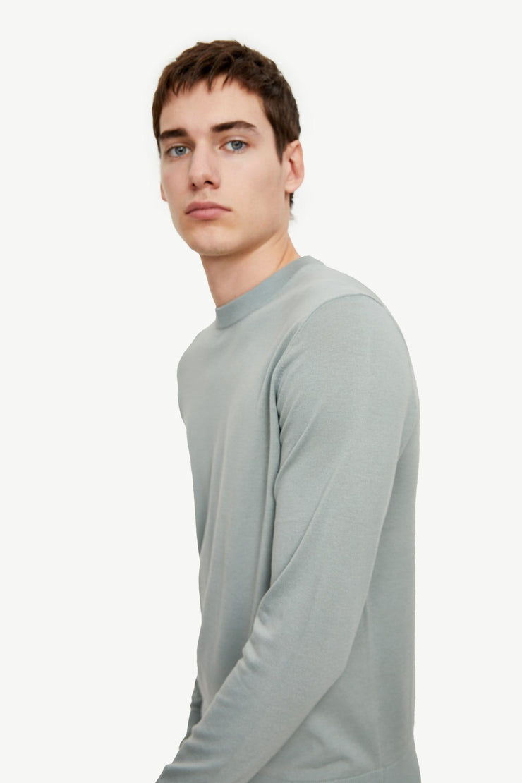 ROUND COLLAR KNITTED T-SHIRT - Urban Revivo Fashion