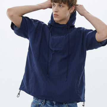 PLAIN POCKET WITH HOODED SHIRT - Urban Revivo Fashion
