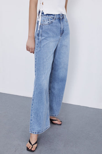 Distressed Simple Jeans - Urban Revivo Fashion