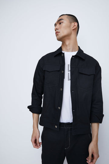 MAN'S FASHION TURNOVER COLLAR JACKET - Urban Revivo Fashion