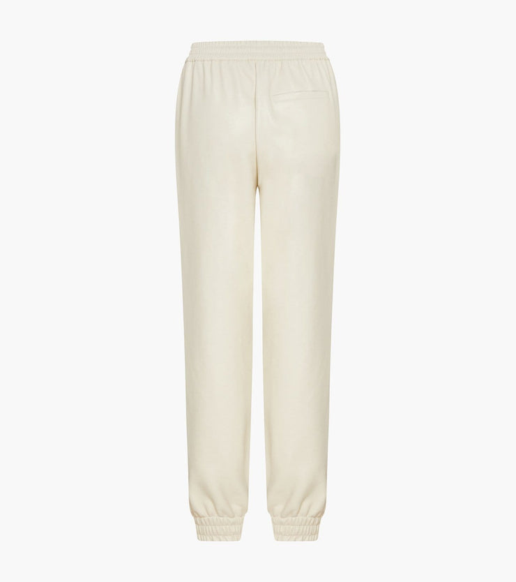 FAUX LEATHER JOGGING TROUSERS WITH ELASTIC WAIST - Urban Revivo Fashion